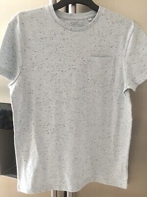 Next Boys Grey Speckled / Fleck Tshirt Top 11 Years Worn Once Vgc