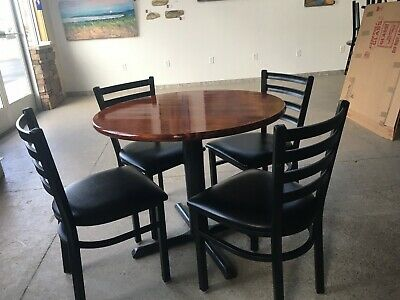 Used restaurant round tables and chairs sets