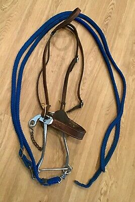 Complete Western Horse Bridle with Mechanical Hackamore, Headstall & Reins
