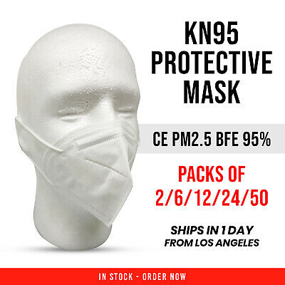 KN95 Face Mask Packs CE PM2.5 BFE 95% Disposable Mouth Nose Respirator Masks