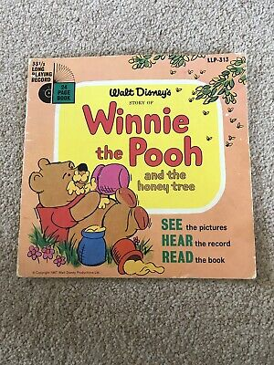 "WALT DISNEY STORY OF WINNIE THE POOH AND THE HONEY TREE LLP313 1967 7"" 33rpm"