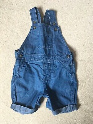 Marks And Spencer Baby Boy Summer Denim Dungarees 6-9 Months