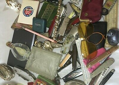 Old Estate Junk Drawer Lot Lighters Tons of Pocket Knives Collectibles ++ 9 lbs