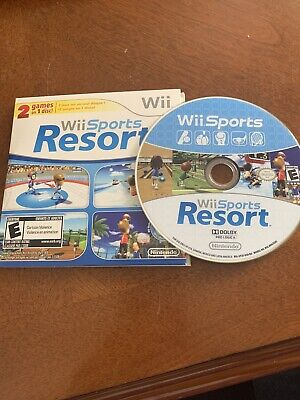 Nintendo Wii Sports + Wii Sports Resort 2 in 1 Combo Disc - RARE Tested Working