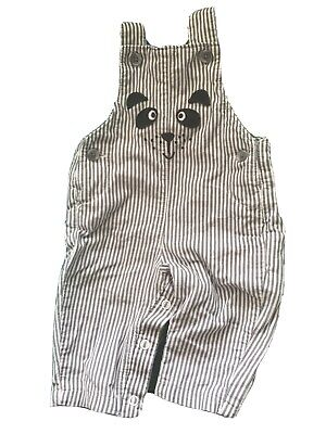 MARKS & SPENCER M&S Pre-Loved Baby Boy Dog Dungarees Newborn To 1 Month