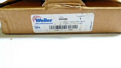 "Weiler 06080 6"" Medium Crimped Wire Wheel .014 Wire, 2""A.H New"