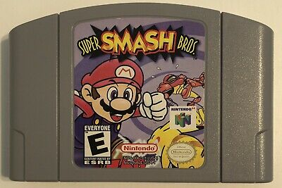 Super Smash Bros Game Cartridge for Nintendo 64 Authentic US Version (N64)