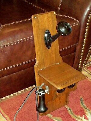 Early Antique Telephone ~ Wall Mount Kellogg? Phone ~ Nice Wall Hanger