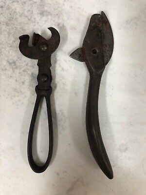 Pair of Antique Can Openers * Claw Style * Cast Iron * Vintage late 1800's