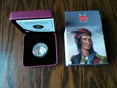 2014 RCM Fine Silver Heroes of 1812 - Tecumseh $4 Coin, No Reserve!