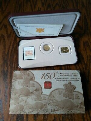 2001 RCM 150th Ann. Post Canada Sterling Silver Coin & Stamp Set, No Reserve!
