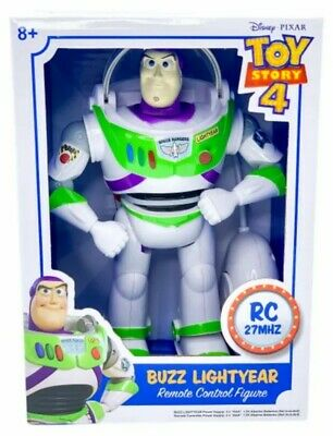 Disney Toy Story 4 Buzz Lightyear Remote Control Figure Retractable Wings - New!