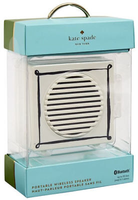 Kate Spade New York Portable Wireless Cream Speaker NEW