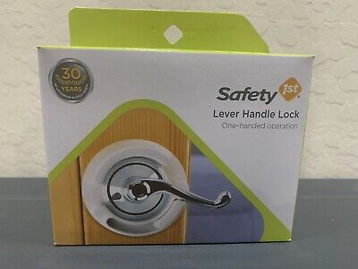 Safety 1st French Door Lever Handle Baby Proof Child Lock - One Hand Use - NEW