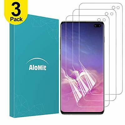 AloMit Galaxy S10 Plus Screen Protector [3-Pack] [Support Fingerprint...