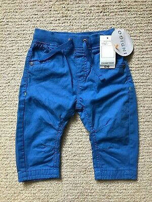 BNWT Boys bright blue INDIGO ( Marks and Spencer ) trousers 6-9 months