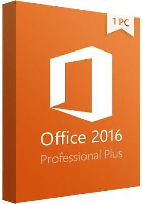 Microsoft Office 2016 Professional Plus 32/64 bit  🔥 Genuine License Key 🔥
