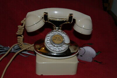 Western Electric Model 202 Gold & Cream  Telephone With Ringer Box
