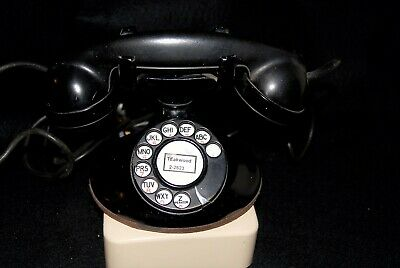 Western Electric Model 202 Black Telephone With Ringer Box