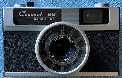 Canon Canonet 28 1968 Camera 40mm 1:2.8 Lens With Case Vintage Collectors Item