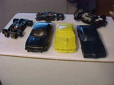 HO Slot Car Resin Bodies with Three Chassis Lot #23