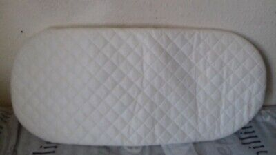 NEW (Other) Quilted Soft Baby Moses Basket / Crib / Pram Oval Shaped Mattress