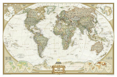 Canvas Print Painting Wall Art Old World Map Vintage Modern Bedroom Home Decor