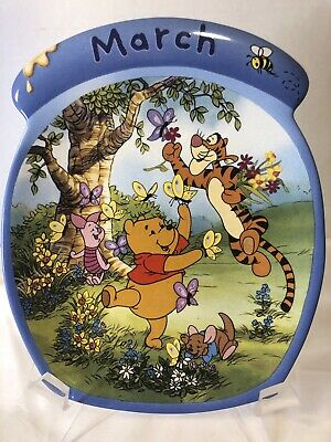 Winnie The Pooh The Whole Year Through JULY Calendar Plate #7 Seventh Issue