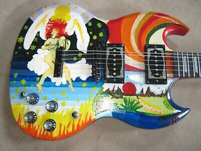 Custom Replica The Fool Clapton Style Sg Hand Assembled And Painted 550 00 Picclick
