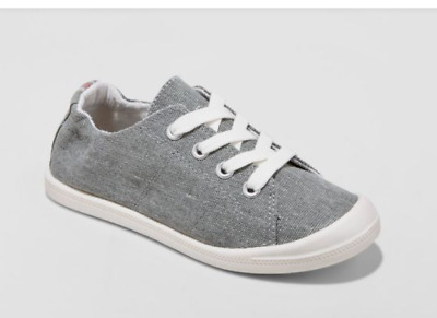 Youth Girls/' Mad Love Shana Scrunch Canvas Slip On Sneakers Colorful Grey