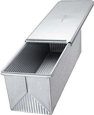 Pan Bakeware Pullman Loaf Pan With Cover 9x4 inch Nonstick Quick Release Coating