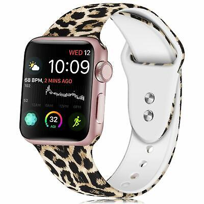 Leopard Print iWatch Band Wrist Strap For Apple Watch 5 4 3 2 1 38/40/42/44mm