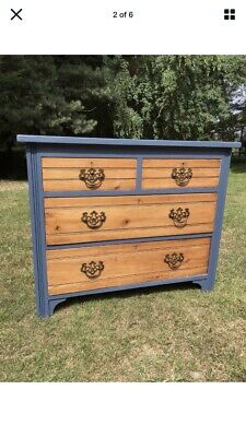 Victorian Pine Part Painted Chest Of Drawers