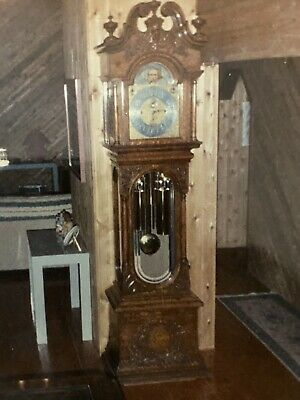 Herschede Grandmother Hall Clock 1920 S All Original Rare Model 454 78 Height 595 00 Picclick
