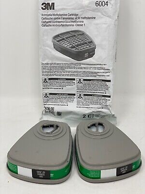 6004 3M #6004 New CARTRIDGES 2 PER PACK RESPIRATOR FREE SHIPPING!