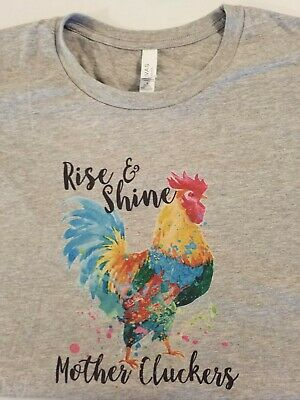 Good Morning Mother Cluckers Muscle Shirt Funny Adult Humor Rooster Sleeveless