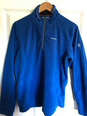 Craghoppers Nosilife Mens Chima Mesh Sports Walking Hooded Jumper Jacket Blue