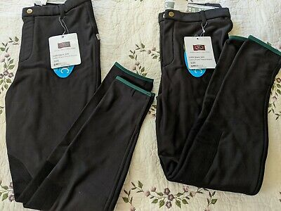Black DEVON-AIRE Ladies Cool Cotton Hipster Breeches Medium 374