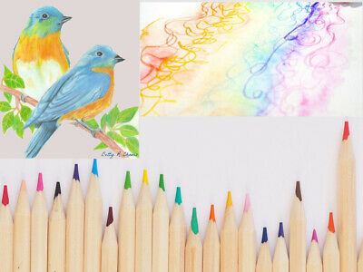 20 x PREMIUM COLOURING PENCILS PACK Set For Sketching Assorted Colours Gift UK
