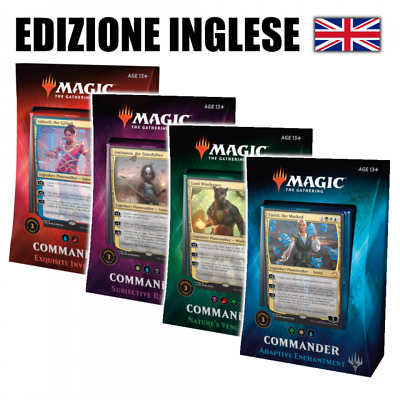 MTG: Commander 2018 - Set 4 mazzi (EN)