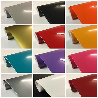"Gloss Vinyl sticky back contact paper White Black ""SOLD BY METRE"""