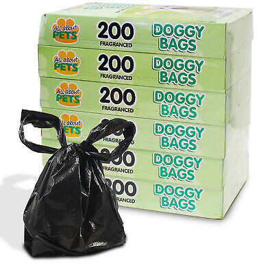 Scented Dog Bags Doggy Poo Fragrance Pooper Scooper Disposal Puppy Cat Pet Waste