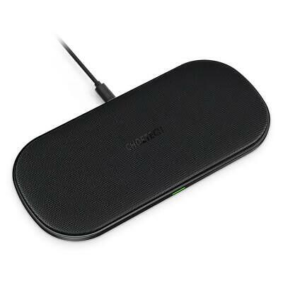 DUAL WIRELESS CHARGER, CHOETECH 5 Coils QI Fast Black+