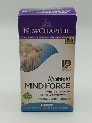 New Chapter Lion's Mane + Reishi Mushroom - LifeShield Mind Force for Mental...