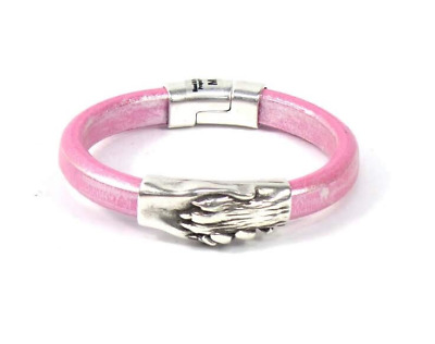 HAND & PAW Project Flat Leather Bracelet Rose Gold - A - $29.99   PicClick