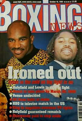 TYSON / HOLYFIELD / LEWIS Boxing News OCT 16 1998