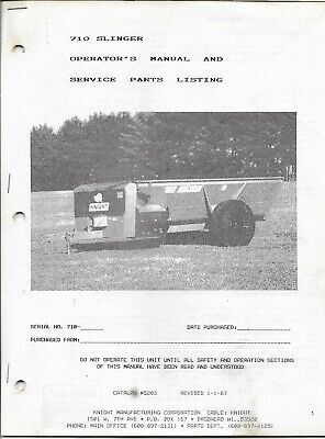 Case Tractor 75 95 Manure Spreader Operator/'s Manual AMIL15