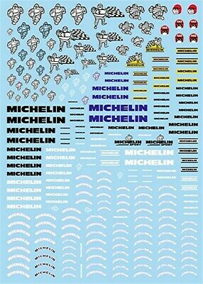 Michelin Reifen Sponsoren Bogen No.2-1:24 Decal Abziehbilder