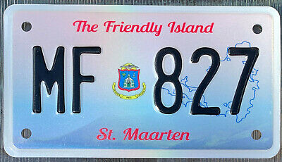 St Maarten Flag Wave License Plate Personalized Car Auto Bike Motorcycle Custom