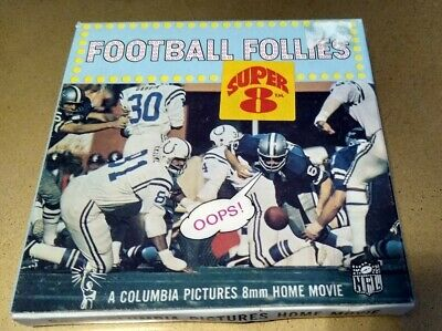 VINTAGE Columbia Pictures Football Follies NFL 8MM Super 8 Home Movie SP81
